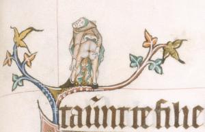 British Library, MS  Additional 49622, fol. 61r (The Gorleston Psalter)