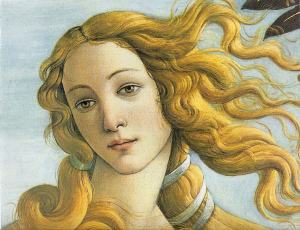 Botticelli, The Birth of Venus (detail). 1486