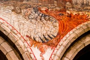 The Mouth of Hell. Wall Painting at Pickering Church, Yorkshire