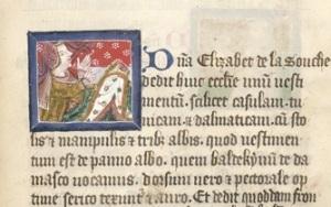 London, British Library, Cotton Nero D. VII, f. 106r. Picture of Lady Elizabeth Zouche.