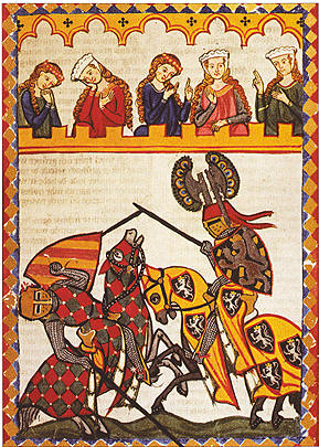 Codex Manesse by Waither von Klingen, Zurich, c.1310—40.