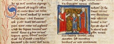 The Roman de Silence. Nottingham, WLC/LM/6, f. 203r
