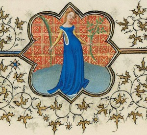 Virgo, from the Belles Heures of the Duc du Berry. (Metropolitan Museum of Art, New York, The Cloisters Collection, 1954, 54.1.1).