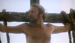 Yes, I imagine it pretty much like this. From the excellent Monty Python's Life of Brian.