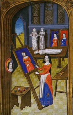 Unknown Artist from Giovanni Boccaccio, Des cléres et nobles femmes, Spencer Collection MS. 33, f. 37v, French, c. 1470. From this site, which is worth a look.
