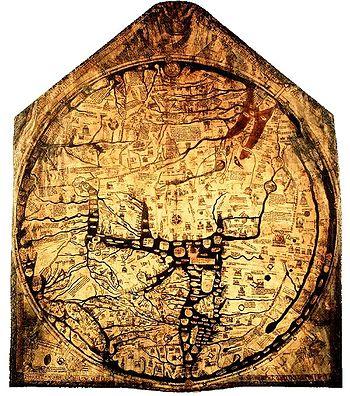 The Hereford Mappamundi. England, c. 1285.