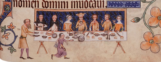 These early fourteenth-century Lincolnshire folks better not be drinking wine before they've learned to import it! London, BL, MS Add. 42130, f. 208