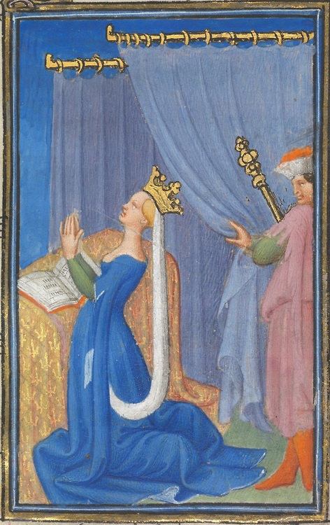 from the Belles Heures of the Duc du Berry. Image from this site.