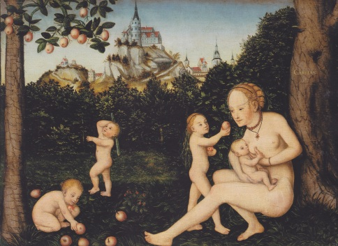 'Caritas' by Lucas Cranach the Younger. Image from Wikipedia Commons.