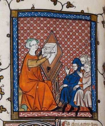 Teaching Medieval Students. London, BL MS Royal 19 C ii, f. 48v.