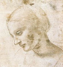da Vinci, study of the Madonna, c. 1484