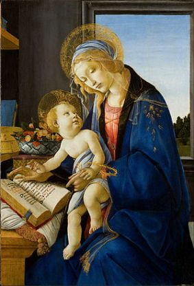 Botticelli, 'Madonna of the Book,' 1480