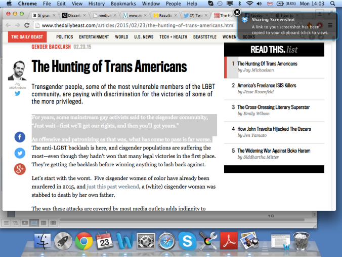 Screen shot of Jay Michaelson's article, from Daily Beast.